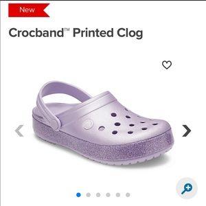 CROCS Shoes - Lavender metallic crocs
